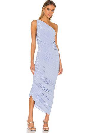 Norma Kamali Vestido largo diana en color baby blue talla XL en - Baby Blue. Talla XL (también en XXS).