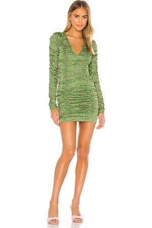 Camila Coelho Minivestido solana en color verde talla L en - Green. Talla L (también en XXS, XS, S, M, XL).