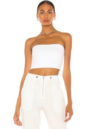 Susana Monaco Top corto en color blanco talla L en - White. Talla L (también en S, M).