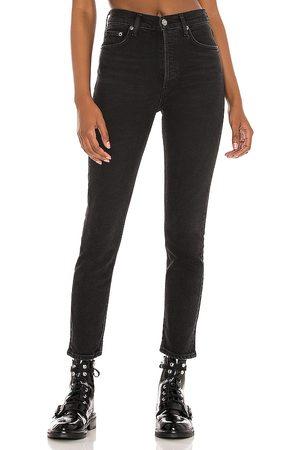 AGOLDE Nico high rise slim en color negro talla 24 en - Black. Talla 24 (también en 25, 26, 27, 29, 30, 32, 33).