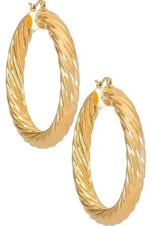 BRACHA Aros milan en color oro metálico talla all en - Metallic Gold. Talla all.
