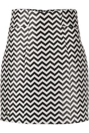 Philipp Plein Mujer Minifaldas - Minifalda tejida de chevron