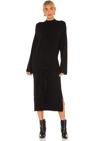 SNDYS Vestido midi en color talla M en - Black. Talla M (también en XS).