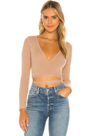 SNDYS Mujer Tops - Prima knit top en color bronce talla L en - Tan. Talla L (también en S).