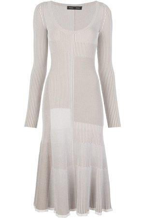 Proenza Schouler Vestido tejido con diseño patchwork