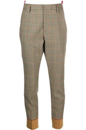 Dsquared2 Pantalones a cuadros con franjas del logo