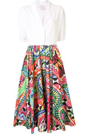 Stella Jean Vestido camisero con estampado pop art