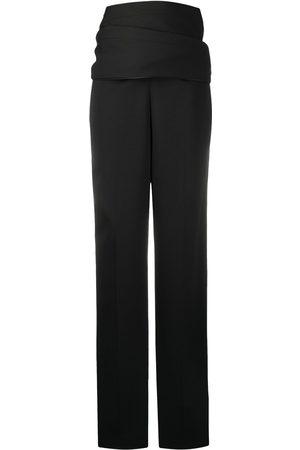 Y / PROJECT Pantalones drapeados con tiro alto