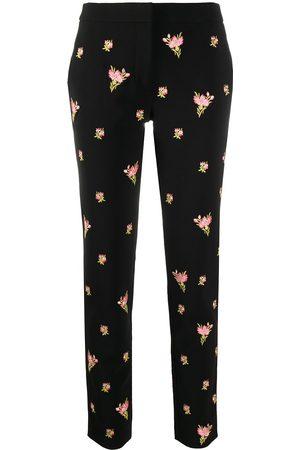 Moschino Mujer Pantalones y Leggings - Pantalones rectos con bordado floral