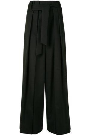 GOEN.J Pantalones anchos con cintura paperbag