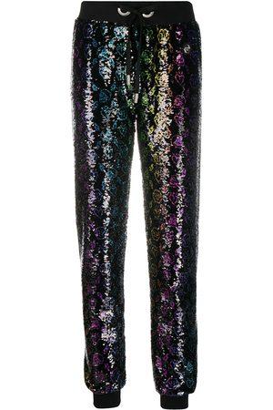 Philipp Plein Pantalones bordados con lentejuelas y monograma