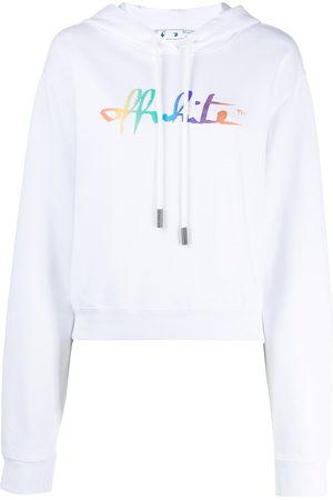 OFF-WHITE Sudadera con logo estampado estilo arcoíris