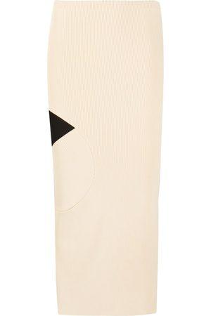 OFF-WHITE Falda lápiz de canalé