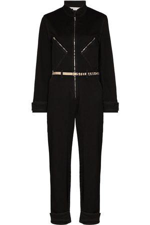 Stella McCartney Jumpsuit de mezclilla con cinturón del logo
