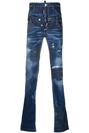 Dsquared2 Skinny jeans con pretina doble