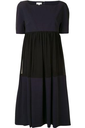 DELPOZO Vestido midi con diseño colour block