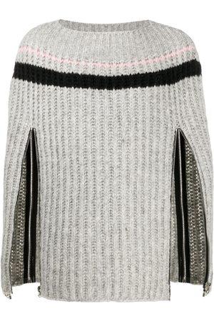 RAF SIMONS Suéter tejido con cierre en las mangas