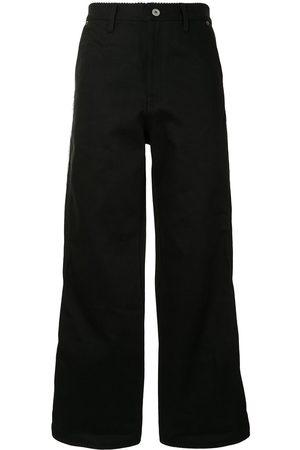 DOUBLET Jeans rectos con costuras grandes