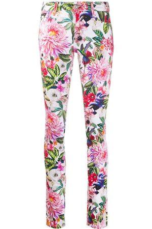 Philipp Plein Skinny jeans con estampado floral
