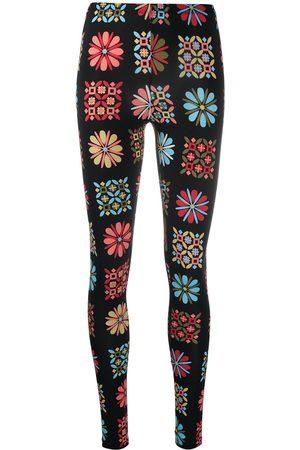 La DoubleJ Mujer Leggings y treggings - Leggins stretch con motivo floral