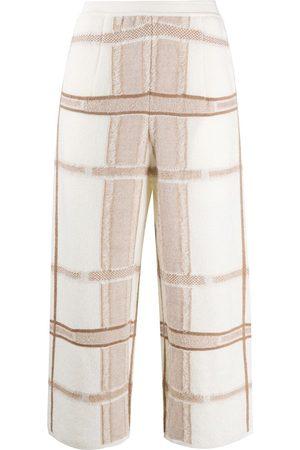 GENTRYPORTOFINO Pantalones capri tejidos en intarsia