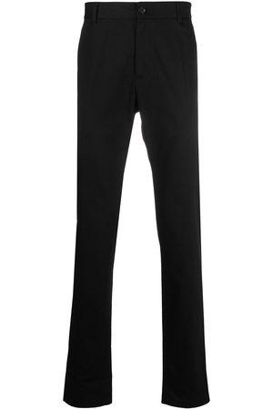 VERSACE Pantalones de vestir con logo bordado