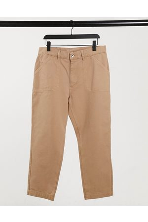 Albam Utility Slim fit work trousers in sand