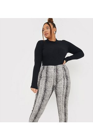 In The Style X Lorna Luxe skinny trouser in faux snake print
