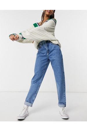 ASOS High rise 'slouchy' mom jeans in midwash