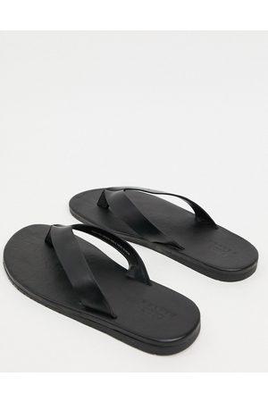 ASOS Flip flops in black leather