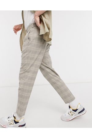 ASOS Skinny suit trousers in prince of wales check