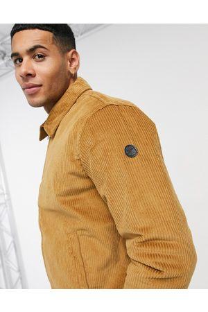 Le Breve Cord bomber jacket in tan