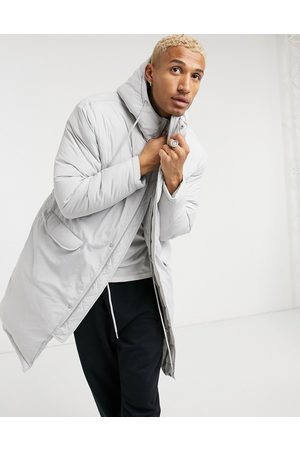 ASOS Puffer parka jacket in grey