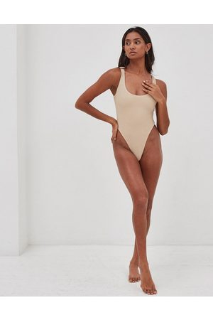 4th & Reckless Lani textured body swimsuit in