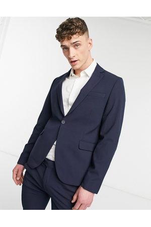 Bolongaro Plain skinny suit jacket in navy