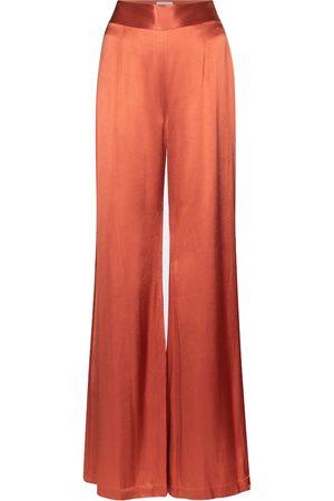 GALVAN Mujer Anchos y de harem - Lido high-rise wide-leg satin pants