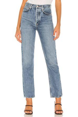 AGOLDE Jean pierna recta 90s pinch waist en color azul talla 24 en - Blue. Talla 24 (también en 26).