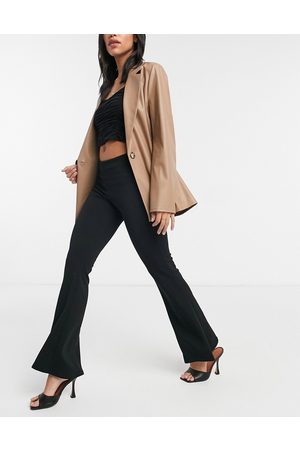 New Look Flared trousers in black