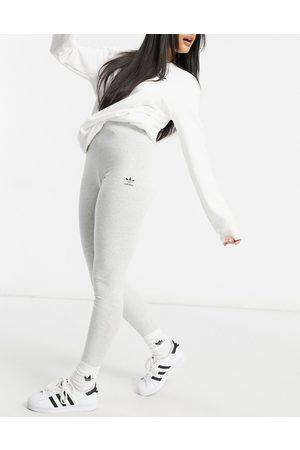 adidas Trefoil Essentials logo leggings in grey