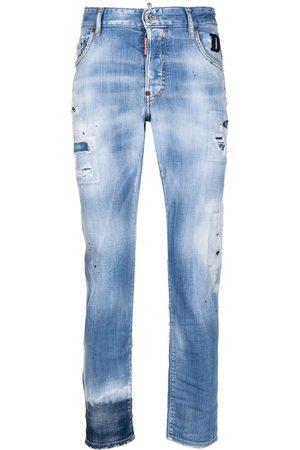 Dsquared2 Hombre Rectos - Jeans rectos con detalles rasgados