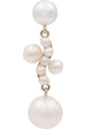 SOPHIE BILLE BRAHE Mujer Aretes - Petite Ocean Perle 14kt gold single earring with pearls