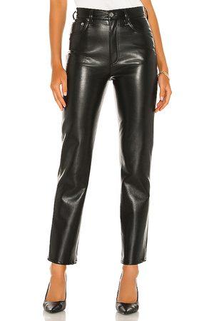 AGOLDE Pantalones cuero en color negro talla 23 en - Black. Talla 23 (también en 24).