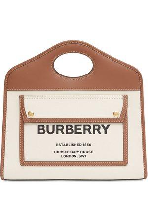 """Burberry Bolso Pequeño """"pocket"""" De Lona Y Piel"""
