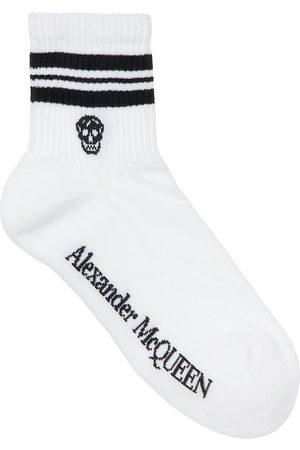 Alexander McQueen Calcetines De Mezcla De Algodón Con Logo