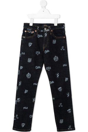 Ralph Lauren De mezclilla - Shorts slim con estampado gráfico