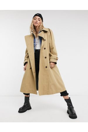 Pepe Jeans Freeda oversized trench coat in camel