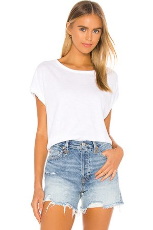 Free People Camiseta you rock en color talla L en - White. Talla L (también en M, S, XS).