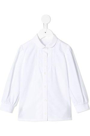 Familiar Niña Camisas - Camisa con cuello Peter Pan