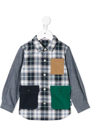 Familiar Camisa con bolsillos de solapa