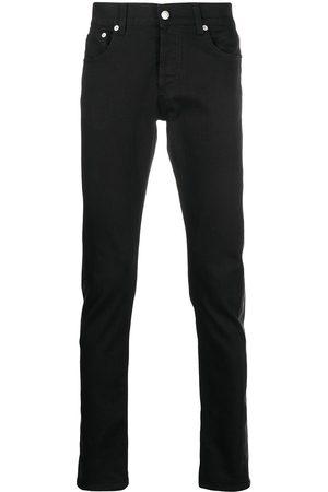 Alexander McQueen Hombre Rectos - Jeans con paneles en contraste